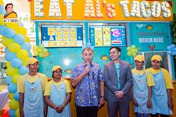 The US Ambassador to Cambodia, William Heidt, at the opening of Al's Tacos BKK1