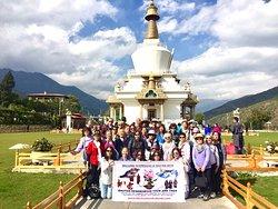From Vietnam tourist 21st October- 26th October 2018. Paro Dzong, Memorial Corten, Dochu la pass, Paro view from National museum in Paro.