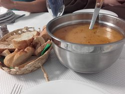 Soupe de légumes et poisson
