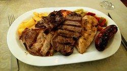 Immense meat platter