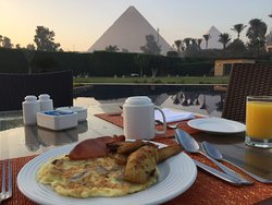 Breakfast at the restaurant's outdoor patio