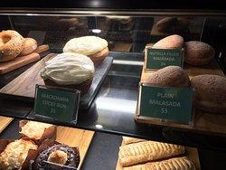 Malasadas and sticky buns