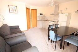 Standard cabin living area