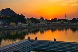 Sunset at Pushkar Lake
