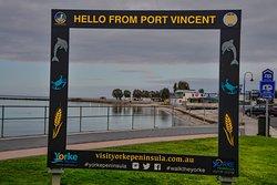 Port Vincent welcome sign