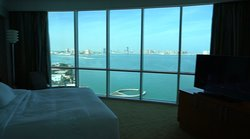 Full window view of The Pearl Qatar from your room