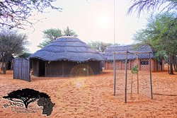 External view main Boma/BBQ area, ample seating space, grills and wood provided.
