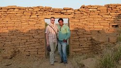 visit of kuldhara village with mr. Fabrice from france