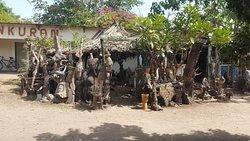 Brikama woodcarvers market