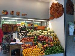 果物店のデコレーション