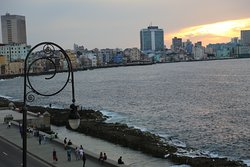 The sunset from the Malecon!!!
