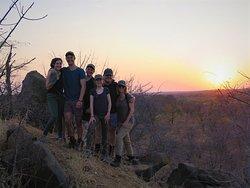 Walking Safari, Sunset, Greater Kruger National Park, South Africa