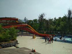 Big slides of water park