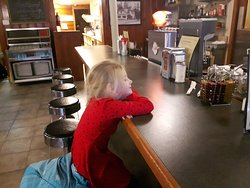 Breakfast with My  Grand-daughter at New Sarum Diner