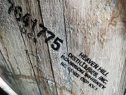 Some of the oak barrels in use were in used to produce Bourbon, and imported from the USA