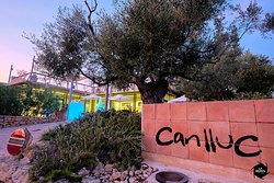 Can Lluc Agritourism & Olea restaurant entrance.