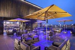 Topgolf Pharr rooftop terrace and bar