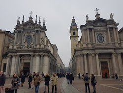 Piazza San Carlo, the Twins Churches