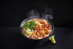 Chilli prawn and kimchee ramen
