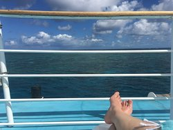 Resting on the sundeck after a dive.