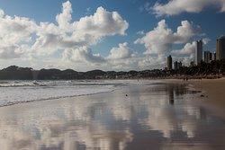 Playa de Punta negra y vista del morro