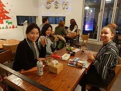 Gorgeous girls having a night out in Hongdae Seoul Korea