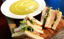 Soup and sandwiches £5.95