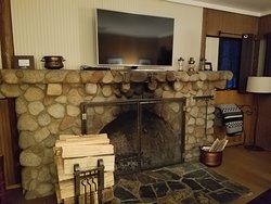 Suite 819 Living area with Fire Place