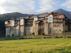 Mount Athos Greece. Holy monastery Iviron