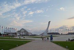 Стадион Фишт и Олимпийский факел