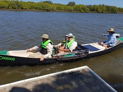 All set and leaving the pontoon at the Maroochy Wetlands Sanctuary.