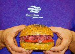 Fish Ham Burger & Fry