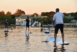 Group stand up paddle lessons