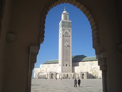 The Hassan II Mosque, the largest in Morocco. Tours inside are available outside of prayer times for about US$12. It is right on the coast and offers nice views of the harbor and seashore.