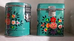 handpainted tiffin boxes.