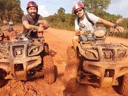EDOUARD & HERVE great fun getting muddy