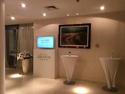 Tastefully decorated lobby