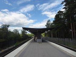 the T-Bana station of Skogskyrkogarden