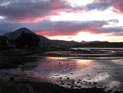 Sunset over Broadford Bay - 5 minute walk from Driftwood B&B.