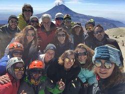 Climbing Izta Mountain in México