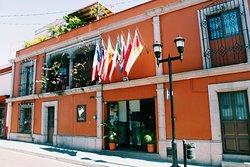 Nos encontramos en el centro histórico de la Ciudad de Oaxaca.
