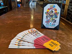 Tickets for live entertainment are available for purchase at the downstairs bar, or via our website!