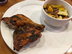 1/4 chicken leg set with grilled veggie