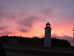 Whiskey Point Lighthouse is within walking distance of Oak Woods Lodge...near the shoreline and the tower can be climbed in season.  Next door to CMU Boathouse,  that frequently is open to visitors with special displays.