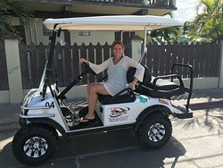 Ready to go! Thanks Pamela for renting from Sam's Golf Cart Rental!