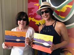 These ladies loved the colors in their paintings!!