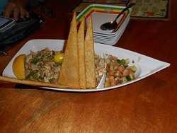 Appetizer with salsa