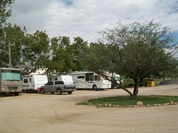 RV's find shade under mature Sycamore trees, park opened in 1989
