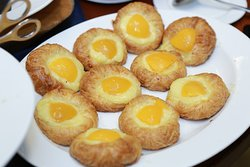 Breakfast pastries served at event