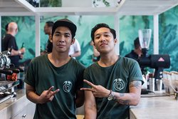 Meet our baristas! They will provide you with the best cup of coffee